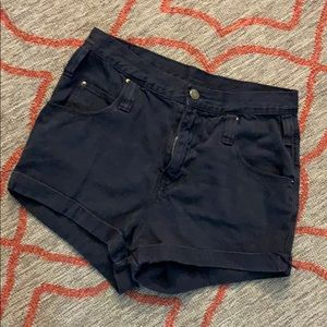 BDG Roll Up Black Jean high waisted shorts